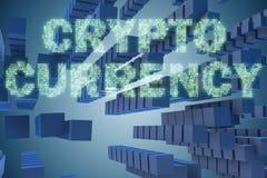 Het concept cryptocurrency in moderne zaken - het 3d teruggeven Stock Foto