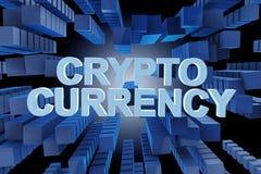 Het concept cryptocurrency in moderne zaken - het 3d teruggeven Stock Afbeelding