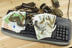 Het concept cybercrime Criminele activiteit door computers en Internet wordt uitgevoerd dat Royalty-vrije Stock Afbeeldingen