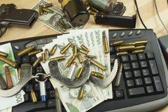 Het concept cybercrime Criminele activiteit door computers en Internet wordt uitgevoerd dat Royalty-vrije Stock Foto