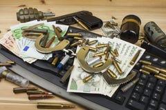 Het concept cybercrime Criminele activiteit door computers en Internet wordt uitgevoerd dat Royalty-vrije Stock Afbeelding