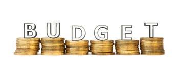 Het concept het in de begroting opnemen Stock Fotografie