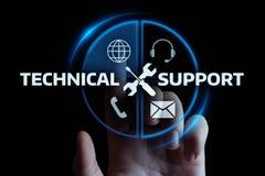 Het Concept de Dienst van van de bedrijfs technische ondersteuningklant Technologieinternet stock foto