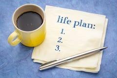Het concept of de lijst van het het levensplan stock foto's
