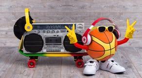 Het concept de muziek en de sporten De sporten, vrije tijd, vermaak, muziek zijn onze beste vrienden Stock Foto's