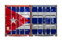 Het concept de uitvoer-invoer en nationale levering van goederen royalty-vrije stock foto's