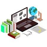 Het concept de werkplaats de student Wetenschap, onderwijs Royalty-vrije Stock Afbeelding