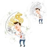 Het concept devaluatie Stock Foto