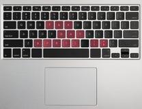 Het concept die van de belastingsdag computertoetsenbord gebruiken Stock Afbeelding