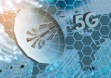 Het concept draadloos radiointernet 5G mobiele technologieën Royalty-vrije Stock Afbeeldingen