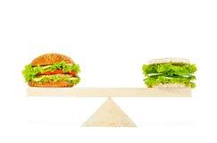 Het concept een gezond voedsel, dieet, verliezend gewicht Stock Foto's