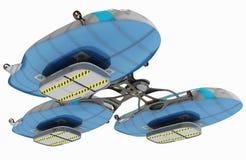 Het concept een luchtschip voor multifunctioneel gebruik 3D illustratie van het ontwerpproject Royalty-vrije Stock Fotografie