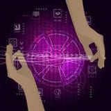 Het concept een netwerk van Internet-handen Royalty-vrije Stock Afbeelding