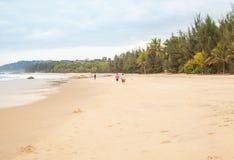 Het concept een ontspannende vakantie op het wilde strand van het overzees stock afbeeldingen