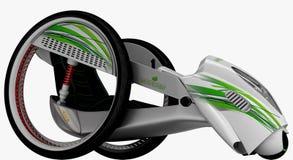 Het concept een stadselektrisch voertuig 3D Illustratie Stock Foto's