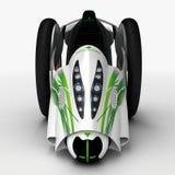 Het concept een stadselektrisch voertuig 3D Illustratie Stock Afbeeldingen