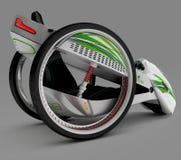 Het concept een stadselektrisch voertuig 3D Illustratie Royalty-vrije Stock Afbeelding