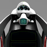 Het concept een stadselektrisch voertuig 3D Illustratie Stock Fotografie