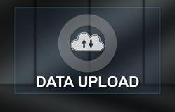 Het concept gegevens uploadt royalty-vrije illustratie