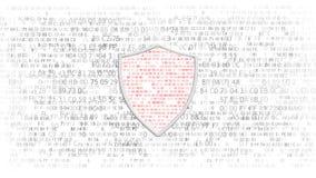 Het concept gegevensbescherming Concept bescherming van belangrijke gegevens Het concept elektronische veiligheid, firewall stock illustratie