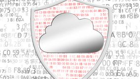 Het concept gegevensbescherming Concept bescherming van belangrijke gegevens Het concept elektronische veiligheid, firewall royalty-vrije illustratie