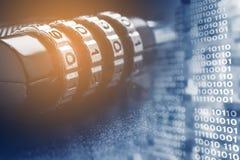 Het concept gegevensbescherming en veiligheid in Internet royalty-vrije stock afbeeldingen