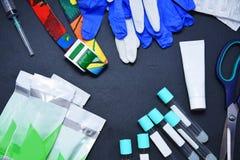 Het concept is geschikt voor de procedure om plasmolifting Injecties voor verjonging en huidregurgitatie van menselijk plasma stock fotografie