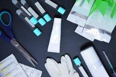 Het concept is geschikt voor de procedure om plasmolifting Injecties voor verjonging en huidregurgitatie van menselijk plasma stock afbeeldingen