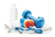 Het concept gezonde levensstijl, dieet, sporten stock fotografie