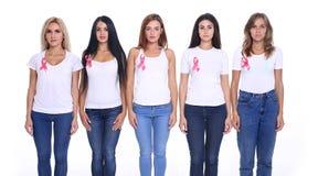 Het concept gezondheid en de preventie van borstkanker royalty-vrije stock foto