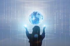 Het concept globale gegevensverwerkingssystemen en technologie royalty-vrije stock foto's