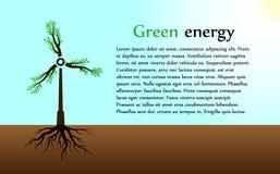 het concept groene energie Stock Afbeeldingen