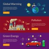 Het concept groene energie, het globale verwarmen, verontreiniging Royalty-vrije Stock Foto