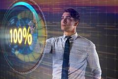 Het concept honderd percenten 100 Royalty-vrije Stock Afbeeldingen