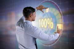 Het concept honderd percenten 100 Stock Fotografie