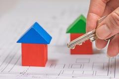 Het concept huisvestingsdoenbaarheid Stock Foto