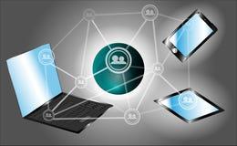 Het concept moderne technologie en mededeling Stock Afbeeldingen