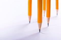 Het concept multitasking Vele potloden trekken zich samen Lege ruimte voor tekst De idylle van de zomer royalty-vrije stock afbeelding