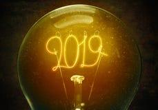 Het concept het nieuwe jaar van 2019 stock foto