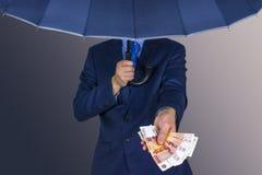 Het concept omkoperij en corruptie stock foto