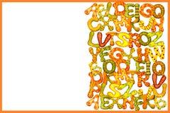 Het concept onderwijs Engels alfabet van multicolored waterverfbrieven op een witte achtergrond voor het ontwerp van de banner, stock illustratie