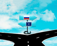 Het concept Rusland en NAVO Royalty-vrije Stock Foto's