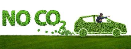 Het concept schone brandstof en eco vriendschappelijke auto's stock fotografie