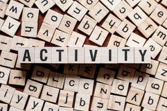 Het concept van het activiteitenwoord stock fotografie