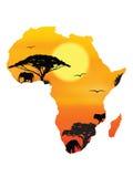 Het concept van Afrika royalty-vrije illustratie
