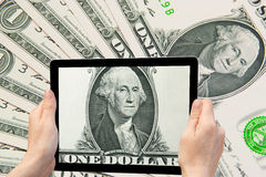 Het concept van Amerikaanse dollarbankbiljetten Royalty-vrije Stock Foto's