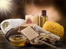 Het concept van Aromatherapy en van het kuuroord royalty-vrije stock fotografie