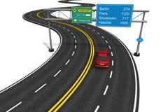 Het concept van Autobahn vector illustratie