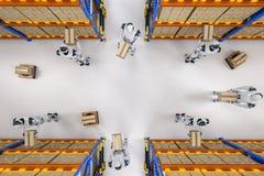 Het concept van het automatiseringspakhuis royalty-vrije illustratie