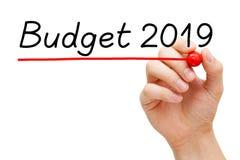 Het Concept van het begrotingsjaar 2019 royalty-vrije stock foto's
